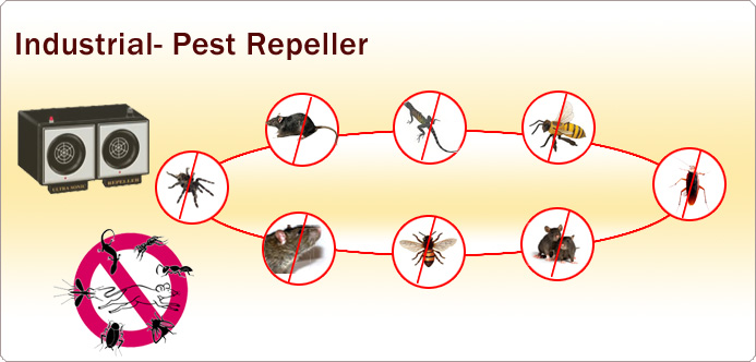 Ultrasonic Pest Repeller, Electronic Pest Control | Tele Net